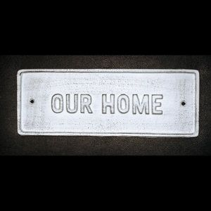"""Our Home"" Wall Plate"